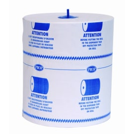 Essuie-mains rouleau blanc 2 plis 135m certifié Ecolabel en palette BOX de 175 rouleaux photo du produit