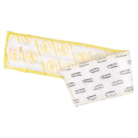 Bandeau de lavage microfibre DX1 blanc impression jaune 44 x 11,5 cm photo du produit