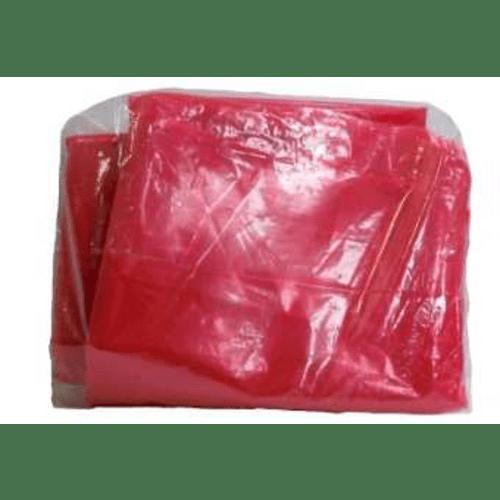 Sac plastique à ouverture soluble 710 x 760 mm rouge 30µm photo du produit Back View L