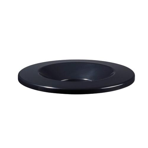 Couvercle antifeu pour poubelle 90L Ø318mm noir photo du produit