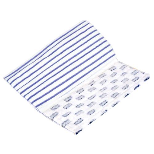 Bandeau de lavage microfibre bleu/blanc 35 x 42 cm photo du produit
