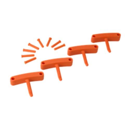Lot de 4 crochets pour support mural orange photo du produit