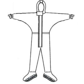 Combinaison de protection Jetguard Plus type 3 poignets jersey couvre-manches élastiqués surbottes à semelles antistatiques ESD élastiques cagoule taille chevilles gris taille L photo du produit
