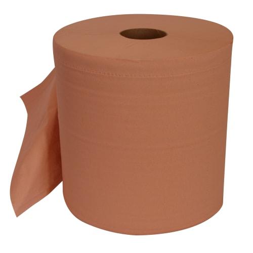 Bobine d essuyage orangée 2 plis 1000 formats 21 x 30 cm certifié Ecolabel photo du produit
