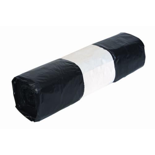Sac plastique PE BD 20L noir 18µm photo du produit