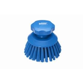 Brosse ronde fibres dures alimentaire PLP Ø11cm bleu photo du produit
