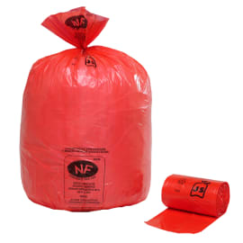 Sac plastique PE BD 110L rouge 36µm NF photo du produit