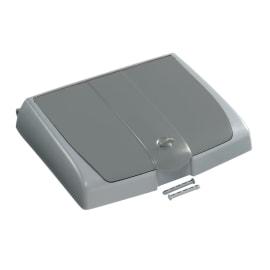 Couvercle pour support sac 150L PLP gris avec compartiment photo du produit