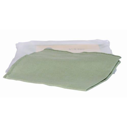 Essuyage microfibre V-Line vert 32 x 32 cm photo du produit