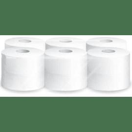 Papier toilette rouleau mini géant blanc 2 plis 160m prédécoupé 8,9 x 24 cm certifié Ecolabel photo du produit