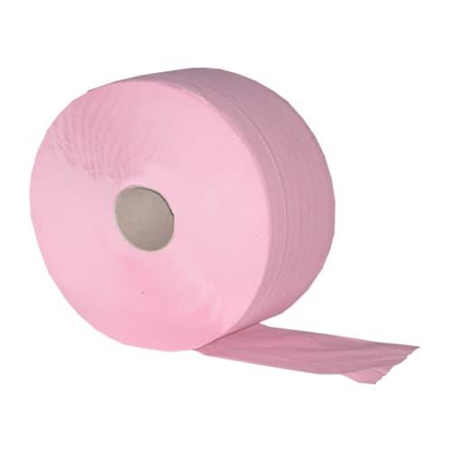 Papier toilette rouleau géant rose 2 plis 350m prédécoupé 9 x 17,5 cm photo du produit
