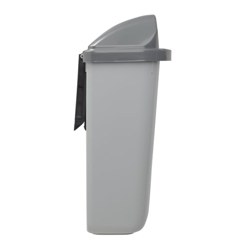 Corbeille murale plastique 50L gris photo du produit Side View L