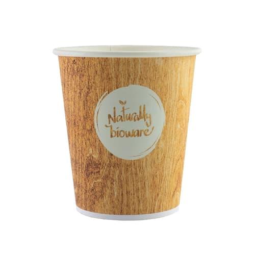 Gobelet carton compostable Bioware 18cl impression bois photo du produit