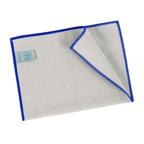 Essuyage microfibre Mini 320 gris surjet bleu 23 x 35 cm photo du produit