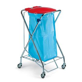 Support sac métal pliable avec couvercle à pédale pour sac 110L ou 130L photo du produit