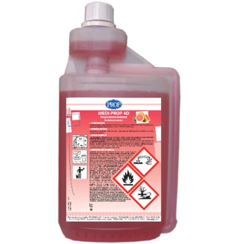PROP Medi-Prop 4D détergent détartrant désinfectant désodorisant flacon doseur de 1L photo du produit