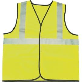 Gilet de signalisation classe II 2 bandes polyester jaune XL photo du produit