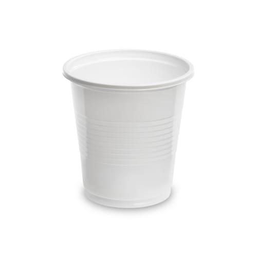 Gobelet plastique 10cl blanc photo du produit