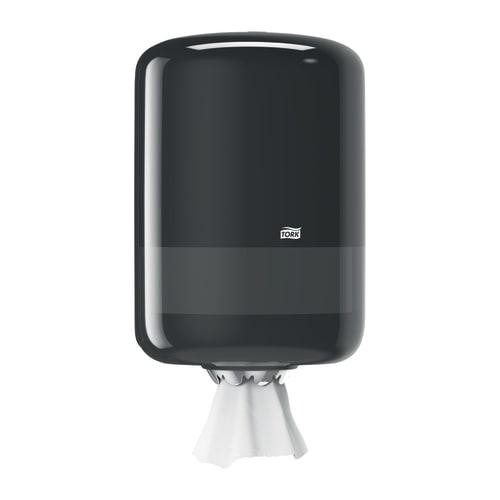 Distributeur d essuyage dévidage central noir M2 moyen modèle photo du produit Back View L