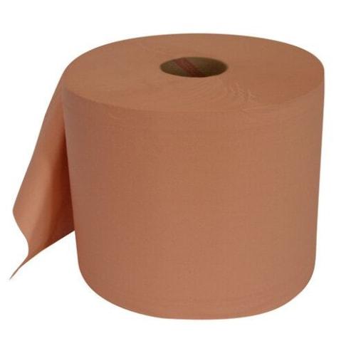 Bobine d essuyage orangée 2 plis 1000 formats 26 x 35 cm certifié Ecolabel photo du produit