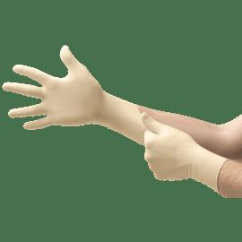 Gant de protection chimique latex Micro-Touch Coated blanc non poudré taille L photo du produit