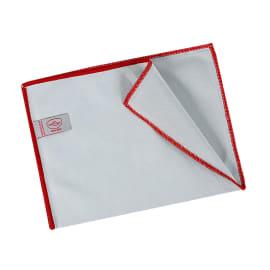Essuyage microfibre Mini 260 gris surjet rouge 23 x 35 cm photo du produit