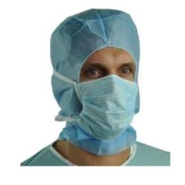 Masque médical Op R type II bleu à lanières photo du produit