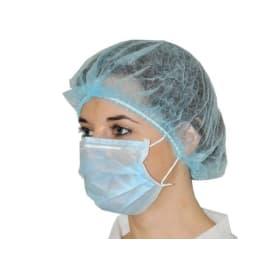 Masque d hygiène 2 plis bleu à élastiques photo du produit