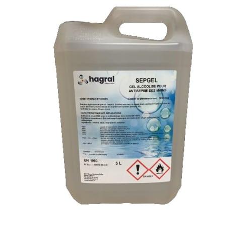Sepgel gel hydroalcoolique bidon de 5L photo du produit