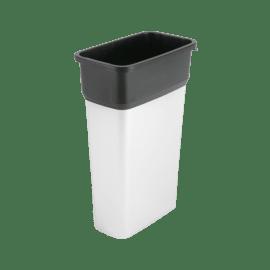 Poubelle pastique 70L inox photo du produit