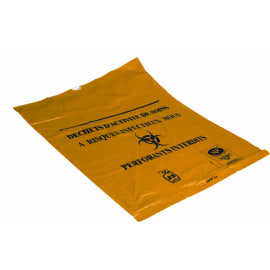 Sac plastique DASRI 100L jaune 22µm NF X photo du produit