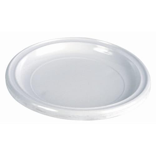Assiette plastique ronde Ø120mm blanc photo du produit Back View L