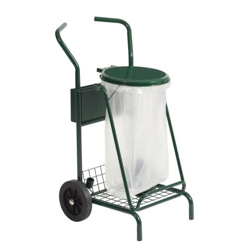 Chariot métal porte sacs mobile 110L vert photo du produit