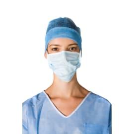 Masque médical Op-Air type II bleu à lanières avec mousse anti-buée photo du produit