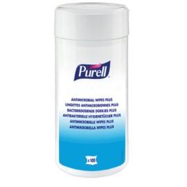 PURELL antimicrobiennes plus lingettes désinfectantes boite de 100 photo du produit