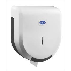 Distributeur de papier toilette en rouleaux mini-géants plastique blanc photo du produit