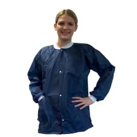 Veste de bloc PLP 45g/m² pressions col et poignets jersey poche basse droite manches longues bleu taille unique photo du produit