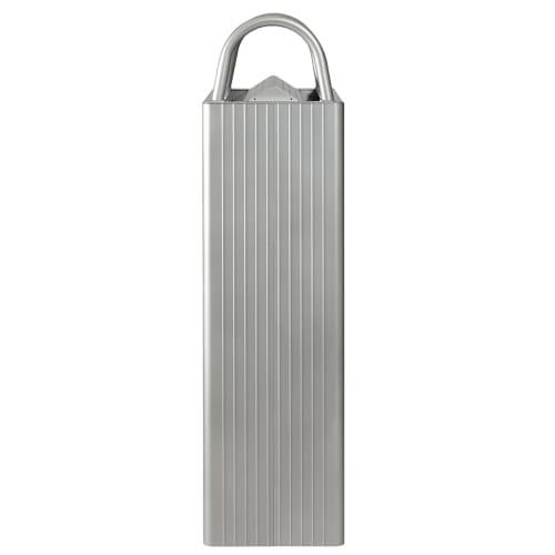 Combiné cendrier poubelle métal 6L/30L gris photo du produit Side View L