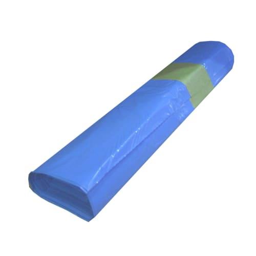 Sac plastique PE BD 150L bleu 30µm photo du produit