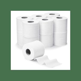 Papier toilette petit rouleau blanc 2 plis 200 feuilles 9,6 x 11 cm certifié Ecolabel photo du produit
