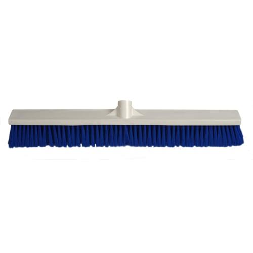 Balai fibres souples alimentaire PLP 60cm bleu photo du produit