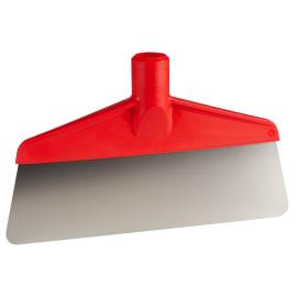 Grattoir à pas de vis lame flexible alimentaire inox PLP 26cm rouge photo du produit