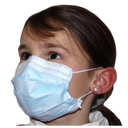 Masque médical Op-Air Kid 5 à 12 ans type II bleu à élastiques photo du produit