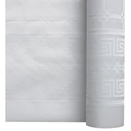 Nappe de table papier damassé 1,20 x 50 m blanc photo du produit
