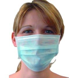 Masque d hygiène PLP 2 plis bleu Dispo-pak à élastiques photo du produit
