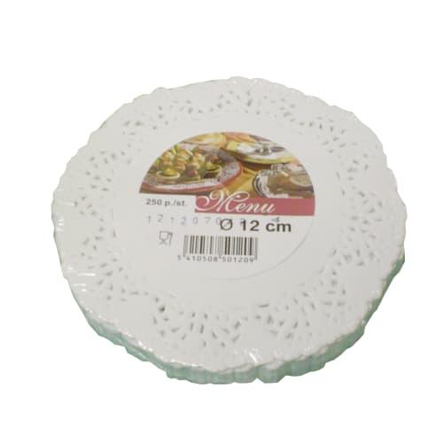 Set de table papier rond Ø12cm blanc photo du produit