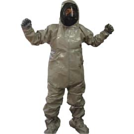 Combinaison de protection Jetguard Plus type 3-B cagoule butyle chaussettes couvre-bottes gants Silvershield incorporés gris taille L photo du produit