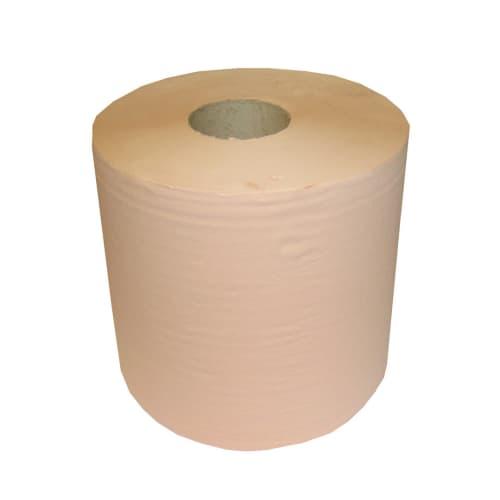 Bobine d essuyage orangée 2 plis 800 formats 21 x 30 cm certifié Ecolabel photo du produit