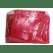 Sac plastique à ouverture soluble 710 x 760 mm rouge 30µm photo du produit Back View S