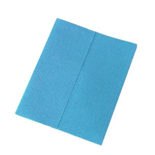 Carré d essuyage Airlaid 57g/m² gaufré bleu 29 x 38 cm photo du produit
